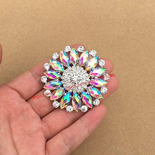 Lowest Price! Xucus 53mm Round AB Crystal Decorative Button for Garments and Clothes Decoration Gorg...