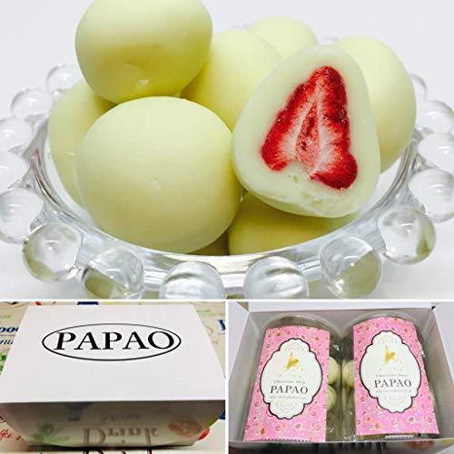 PAPAO(パパオ) 特別箱パッケージ ホワイト苺チョコ ショコラドフレーズ (100g×2) メッセージカード付き