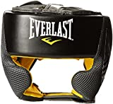 Everlast Headgear-4044 Casco Protector Boxeo Sistema Evercool, Adultos Unisex, Negro/Amarillo, Unico