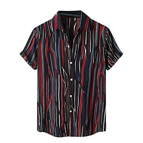 CXDS Poloshirt Herren Kurzarm Golf T-Shirt Mode Karierte Spleiß Polohemd S-2XL Basic Tshirt Herren