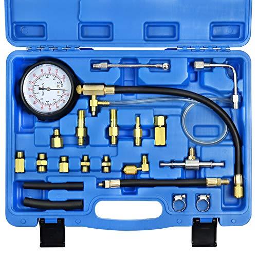 YSTOOL Fuel Pressure Tester Gauge Kit 140PSI Automotive...