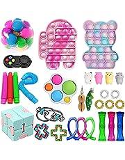 Fidget Toys Cheap Pack, Anti-Stress and Anti-Anxiety Fidget Toy Set, Fidget Toys Juguetes sensoriales, Push Bubble Toy, Sensory Fidget Toy Set para niños adultos, Regalos para niños