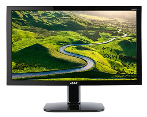 Acer KA240Hbid 61cm 24Zoll TFT LED Backlight 1920 x 1080 VGA DVI HDMI 5ms 250cd/m² 100M:1 (A), 8659F47, Schwarz