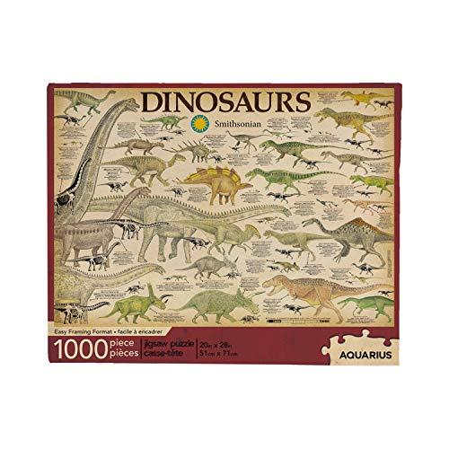 AQUARIUS- Smithsonian Dinosaur Dinosaurs Rompecabezas, Multicolor, 1000 (65311)
