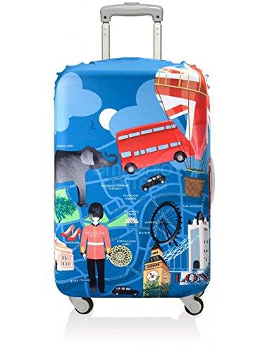 LOQI - Copri trolley decoro Londra, colore blu