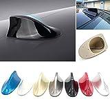 Antena universal de coche con aleta de tiburón para antena de radio de coche para SUV, camioneta, furgoneta, antena de techo modificada (17,1 x 7,5 x 6 cm), color negro