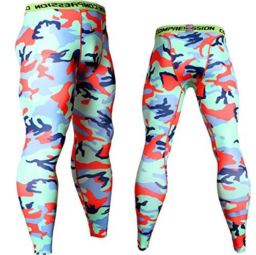 MELKEVDY Leggings Hombre, Pantalón De Compresión Secado Rápido Pantalones Deporte Mallas Largas para Running Fitness Entrenamiento Yoga Ciclismo,B,XXL