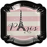 Big Dot of Happiness Paris, Ooh La La - Paris Themed Baby Shower or Birthday Party Dessert Plates (8 Count)