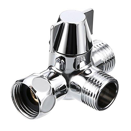 SUMNACON fregadero válvula desviador grifo divisor, 1/5,08cm IPS desviador grifo válvulas para cocina de repuesto grifo de baño, grifo conector para manguera Adaptador