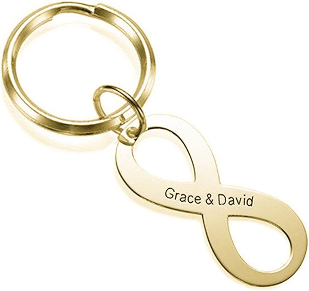 Personalized Silver Angel Silhouette Key Chain Custom Engraved Gift