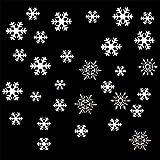 Scrox. Stickers Noël Flocons de Neige Blanche Amovible Décoration pour Mural Vitre Fenêtre, Deco Noel Salon Vitrine de Chambre