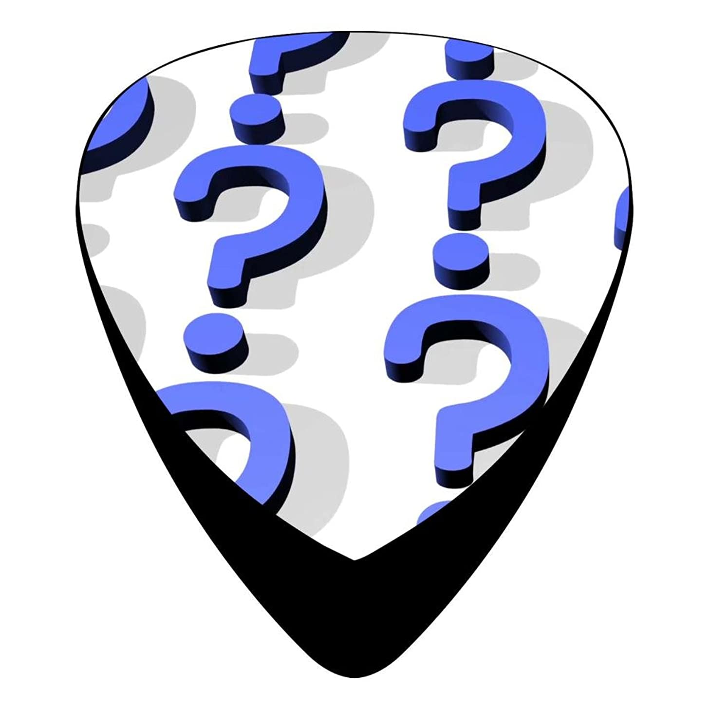 Guitar Picks Celluloid Dark Question Mark 12 Pack Shape For Acoustic Guitar Mandolin Electric Guitar And Bass