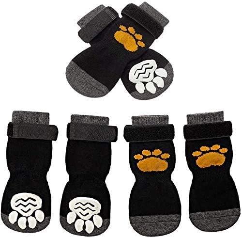 SCIROKKO 3 Kansas City Mall Pairs Anti-Slip Dog Socks Non-Slip - Ranking TOP4 Pet Adjustable P