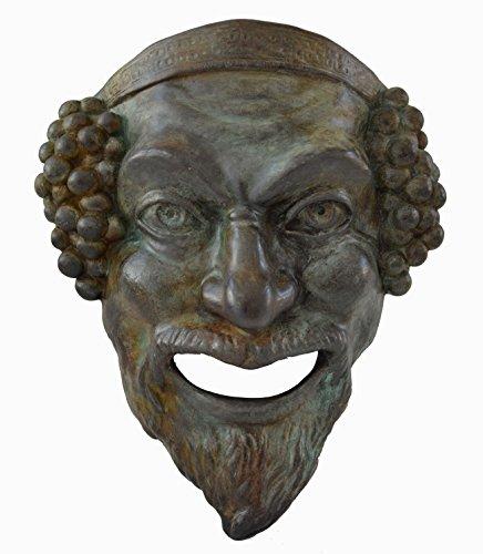 Estia Creations Dionysos Kleine Maske mit Bronze-Effekt, Dionysus God of Wine – Antikes griechisches Theater