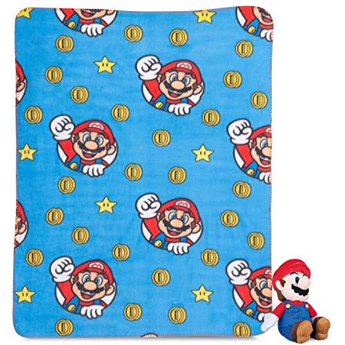 Super Mario Plush Hugger Blanket Kids Throw Boys Children