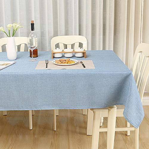 Sinzong Damast-tafelkleed, tafelkleed, stof, katoen, linnen, pure kleur, woonkamertafel, rechthoekig tafelkleed, tafelkleed, tafelkleed