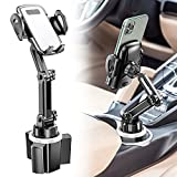 Car Cup Holder Phone Mount, CTYBB Cup Holder Cradle Car Mount with Adjustable Neck for Cell Phones iPhone 12 Pro Max /11 Pro/XR/XS/8/7 Plus/6s, Samsung S10 Plus/S9/Note9, Huawei etc.