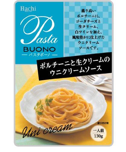 ハチ食品 ポルチーニと生クリームのウニクリームソース130g×12袋