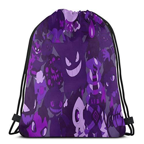 Multifunctional drawstring bag backpack handbag shoulder bag sports bag basketball fitness travel unisex Po-Kemon Cartoon