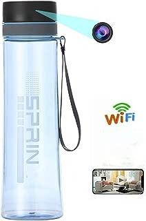 WiFi Hidden Camera, HD Wireless Spy Camera Water Bottle with Motion Detection, Nanny Cam Home Surveillance Camera (Orange)