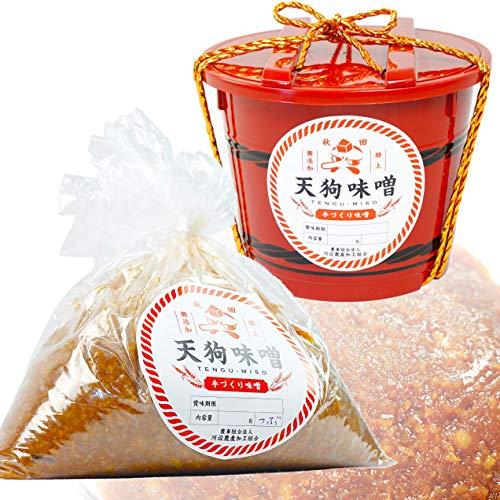 秋田 特上 天狗味噌 秋田味噌 天然醸造 無添加 赤樽 700g 1ケース