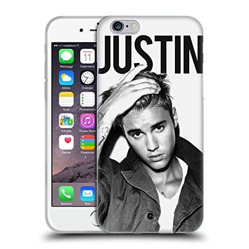 Head Case Designs Offizielle Justin Bieber Kalender Schwarz Und Weiss Purpose Soft Gel Huelle kompatibel mit iPhone 6 / iPhone 6s