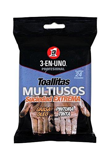 3 EN UNO Profesional 34374 Pack de 24 lingettes multi-usages