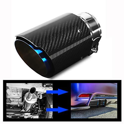 """Puntas de Escape Silenciador Acero Inoxidable y fibra de Carbono Brillante Tubo del Extremo de Escape del Automóvil, Entrada 63 mm (2.5 """") Salida 89 mm (3.5"""")"""