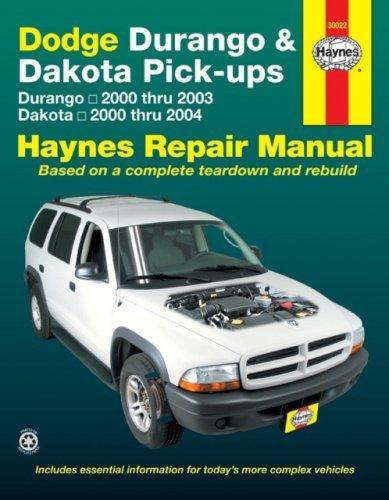 [Dodge Durango & Dakota Pick-ups: Durango 2000 thru 2003 Dakota 2000 thru 2004] [By: x] [February, 2008]