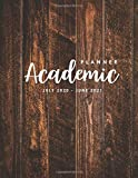 Academic Planner July 2020 - June 2021: Wood Rustic Cover | 2020-2021 Daily Weekly & Monthly Planner Large with To-Do List | 12 Month Academic Year ... Planners July 2020 through June 2021)