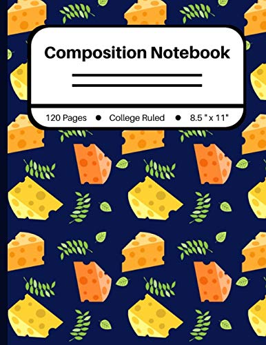 Composition Notebook: College Ruled - Cheese Pattern