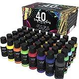 Zenacolor - Tempera Pittura Bambini - Kit Professionale da 40 Tubetti di Colore da 60 ml - Colori...