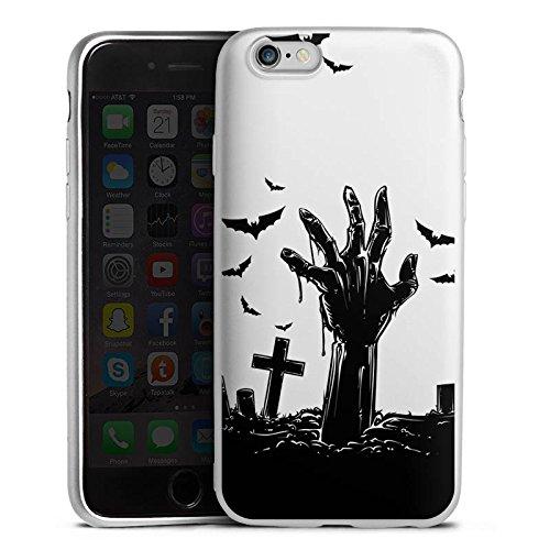 DeinDesign Apple iPhone 6 Silikon Hülle Silber Case Schutzhülle Zombie Halloween ohne Hintergrund