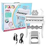 IDWT Juguete de Aprendizaje de Piano, Juguete de Piano, educación temprana para niños, niños, bebés, niños(Upgraded Stereo Piano White)