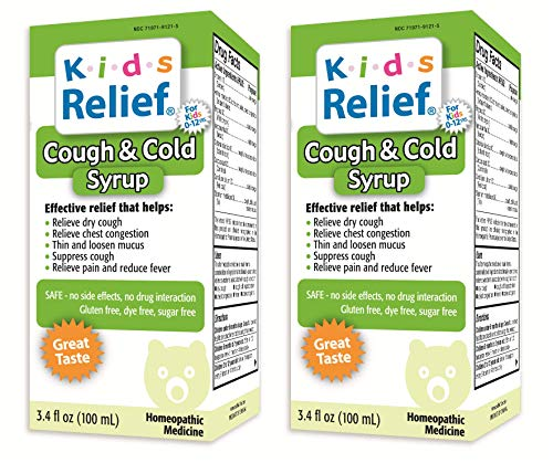 Kids Relief Cough & Cold Syrup, 3.4 Fl Oz (Pack of 2)