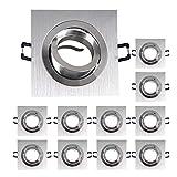 Set de 10 marcos de montaje GU10 de 80 mm con casquillo GU10 6711