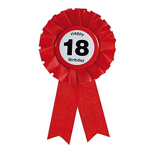 Preis am Stiel 2 x Ansteckbutton Happy Birthday 18. | Geburtstag | Partydeko