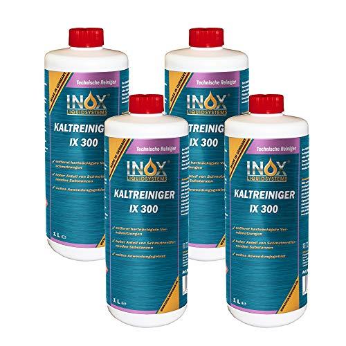 INOX® IX 300 Nettoyant à Froid pour Moteur, Nettoyant concentré Contre Les huiles, Le Goudron et Les Graisses - 4 x 1L