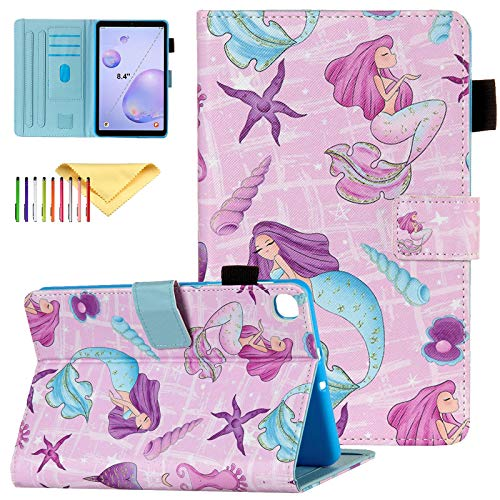 Fit Samsung Galaxy Tab A 8.4 Case 2020 Model SM-T307, Cookk Premium PU Leather Folio Stand Protective Magnetic Case for Samsung Galaxy Tab A 8.4 2020(SM-T307), Mermaid Girl
