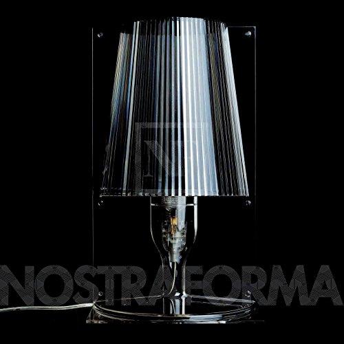 Kartell tafellamp Take blauw transparant polycarbonaat wit/opak/scherm gekleurd, standaard, E14