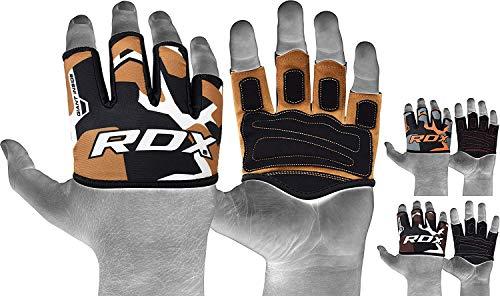 RDX Gewichtheber-Griffe, ideal für Krafttraining, Powerlifting, Bodybuilding, Gymnastik, Workout und Xfit, hautfarben