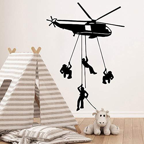 hetingyue Exquise helikopter muursticker afneembaar vinylbehang kinderkamer slaapkamer decoratie wooncultuur kunst achtergrond sticker