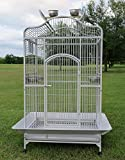 New Large Wrought Iron Open/Close Play Top Bird Parrot Cage, Include Metal Seed...