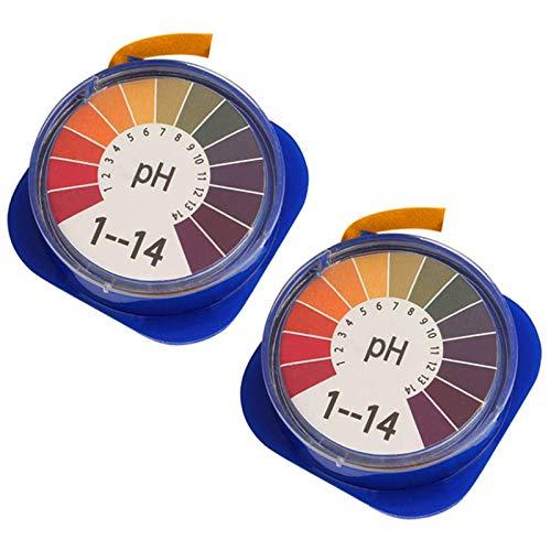 JZZJ Tiras de Papel Reactivas de pH Universales Rollo de Tiras de Prueba de pH, Rango Completo de Medición de pH de 0-14, 2 Rollos, 16,4 pies/Rollo