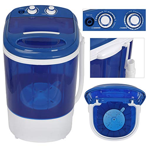 Oteymart Mini Washing Machine Portable Laundry Washer 8.8lbs Compact Counter Single Tub w/Spin Cycle Dryer Basket and Drain Hose for Apartments,Dorms,Camping,Rv's