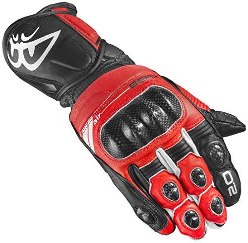 Berik ST-Evo Motorradhandschuhe Rot/Schwarz XL