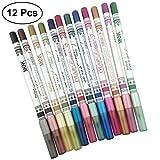 Frcolor 12pcs Eyeshadow Pencil Glitter Pearl Light Eyeliner Pen para maquillaje de ojos grandes