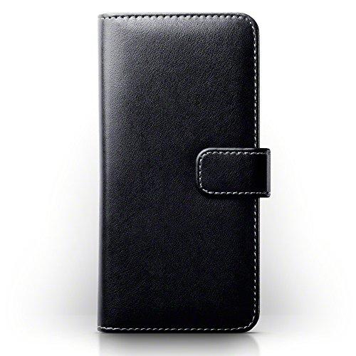 TERRAPIN, Kompatibel mit Google Pixel XL Hülle, Handy Leder Brieftasche Hülle Tasche mit Kartenfächer - Schwarz mit Hellbraun Interior