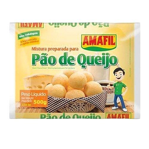 Cheese Bread Mix Amafil - 17.6 oz   Mistura para Pão de Queijo Amafil - 500g-SET OF 3