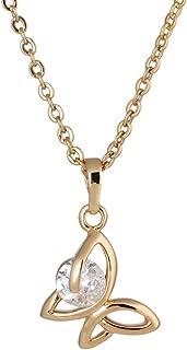 Yazilind Halskette für Frauen Mädchen Schmuck Glänzende Mode weiße Zirkonia Gold Überzogene Halsketten Anhänger mit Kette